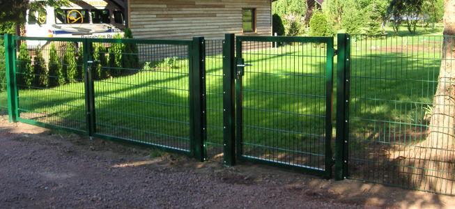 Gartentor doppelstabmatte gruen